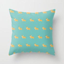 Corgi pattern Throw Pillow