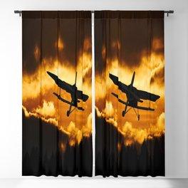 flying aircraft sky sunset Blackout Curtain