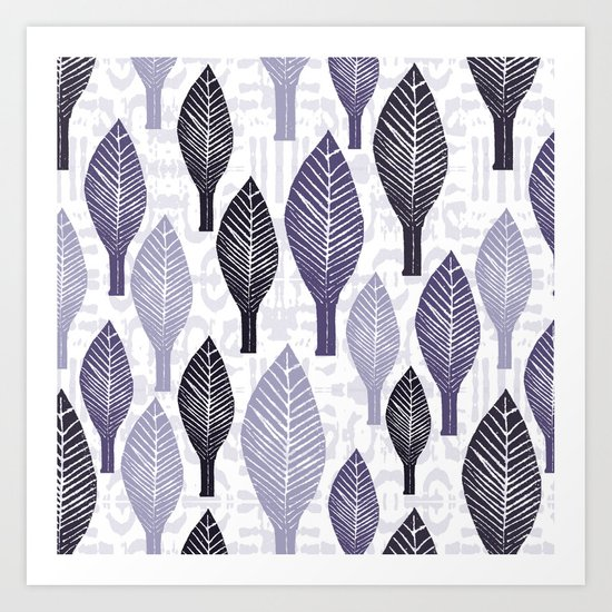 Leaves Standing Tall One Art Print