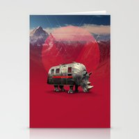 rhino Stationery Cards featuring Rhino by Ali GULEC