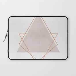 BLUSH COPPER ROSE GOLD GEOMETRIC SYNDROME Laptop Sleeve