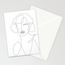 Abstract Beauty Outline Stationery Cards