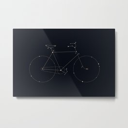 Bike Constellation Metal Print