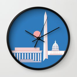 Washington D.C. City Print Wall Clock