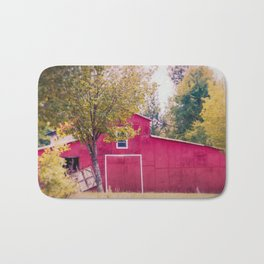 Red Barn Bath Mat