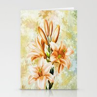 vintage floral Stationery Cards featuring Vintage Floral by Colorful Art