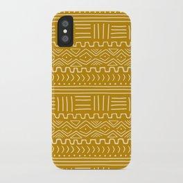 Mud Cloth on Mustard iPhone Case
