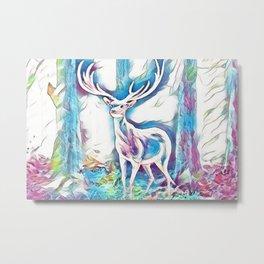 Fantasy Deer Metal Print