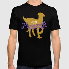 Hippogriffs MEDIUM Black Mens Fitted Tee