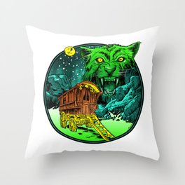 vvitch vvagon Throw Pillow