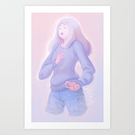 Cotton Cloud Bubblegum Art Print