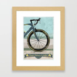 Tour Down Under Bike Race Framed Art Print