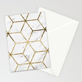 Gatsby golden marble Stationery Cards