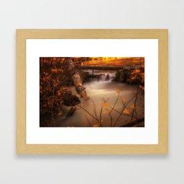 Hat Creek in Gold Framed Art Print