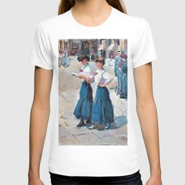 Isaac Lazarus Israels - Midinettes On The Place Vendome, Paris - Digital Remastered Edition T-shirt