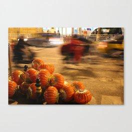 Lantern traffic Canvas Print