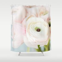 blush Shower Curtains featuring Blush by August Joy Photography