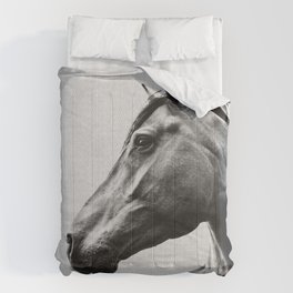 Horses - Black & White 2 Comforters