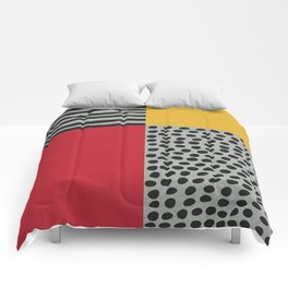Earth Tone, Red Orange Pattern, Scandinavian Design Comforters
