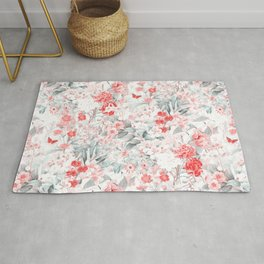 Vintage & Shabby Chic - Blush Flower Meadow Garden Rug