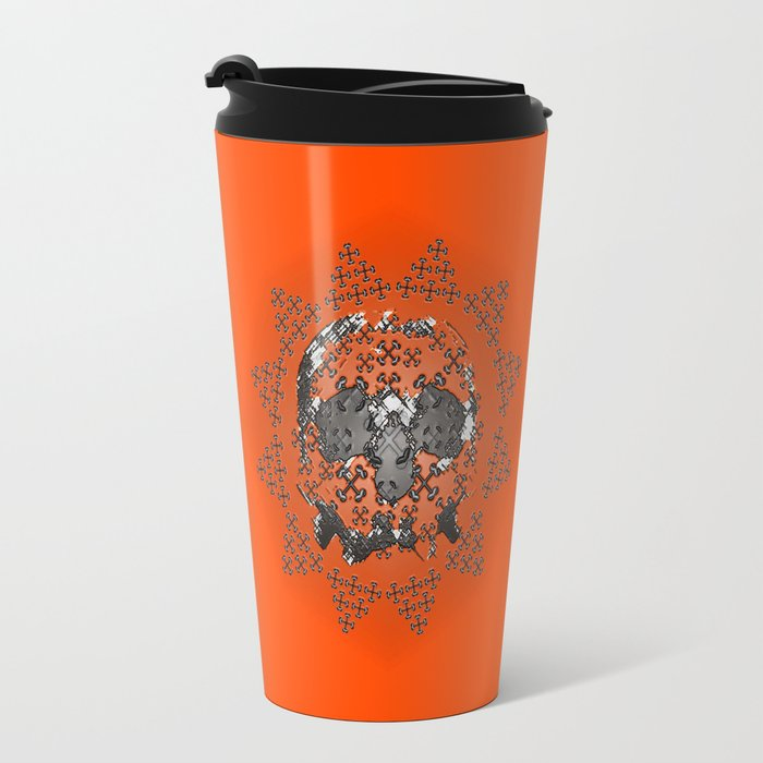 Skull and Crossbones Medallion Travel Mug