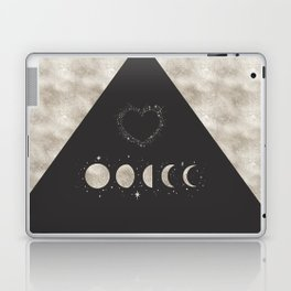 Silver Moon Phases Abstract Geometric Art Laptop & iPad Skin