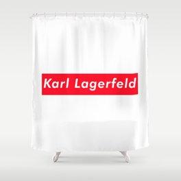 Karl lagerfeld aesthetic Shower Curtain