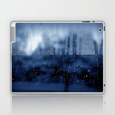 blue abstract with raindrops Laptop & iPad Skin