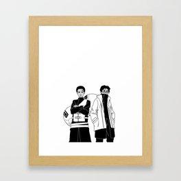 Bino of the Sand x Lupe Aburame Framed Art Print