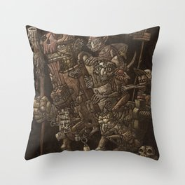 Moria taxi troll Throw Pillow