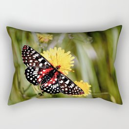 A Red Dotted Checkerspot Rectangular Pillow