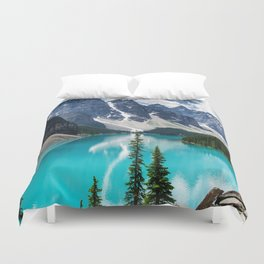 Lake Moraine Banff Duvet Cover
