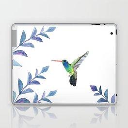 Hummingbird with tropical foliage Laptop & iPad Skin