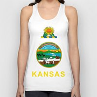 kansas Tank Tops featuring KANSAS by changsaw