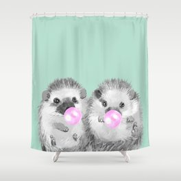 Playful Twins Hedgehog Shower Curtain