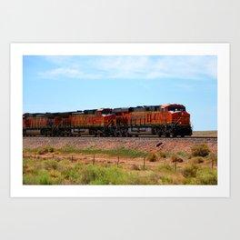 Orange BNSF Engines Art Print
