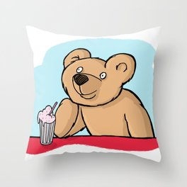Is That More Food? Milkshakes Are For Dreamers. Throw Pillow