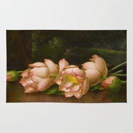 Lotus Flowers by Martin Johnson Heade, 1885 Rug
