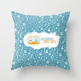 Da quando sono papà blu Throw Pillow