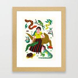 Reptile love Framed Art Print