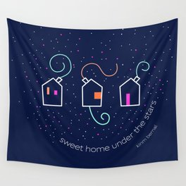 Sweet home under the stars Wall Tapestry