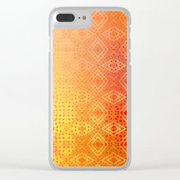 Diamonds Going On Forever (orange) Clear iPhone Case