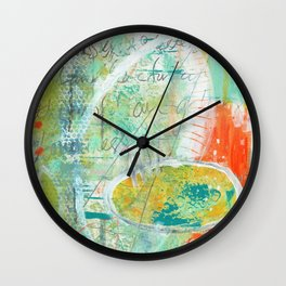 abstract 3 the great loneliness Wall Clock