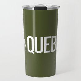 Moose: Quebec, Canada Travel Mug