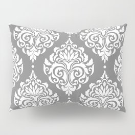 Grey Damask Pillow Sham