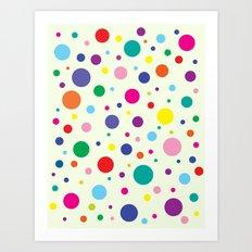 Celebrate | Dancing Polka Dots Art Print
