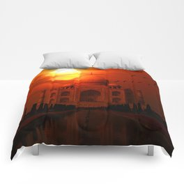 Taj Mahal Sunset Comforters