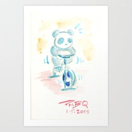 Spin Panda Art Print