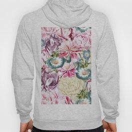 Vintage & Shabby chic -  Retro Spring Flower Pattern Hoody