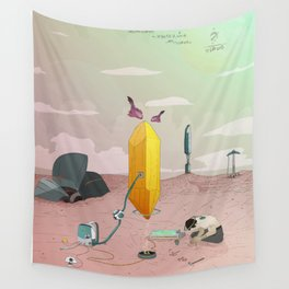 Land of Crystals Wall Tapestry